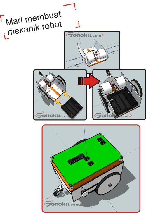 Membuat mekanik robot mobil sederhana (bag.1)